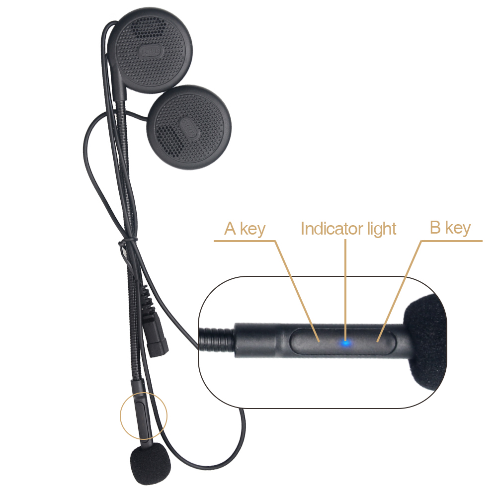 Motorcycle Helmet Wireless Bluetooth Headset Stereo Music Hands-free Bluetooth Enabled Cell Phone/MP3