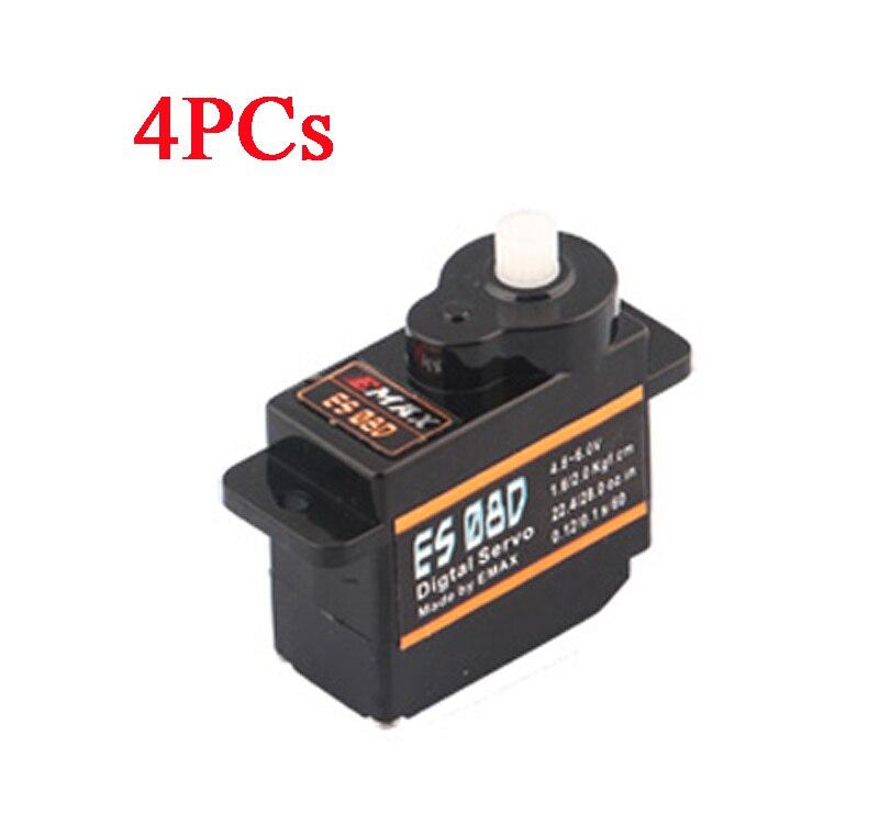 4PCs Orginal EMAX ES08D Plastic Digital Micro Servo High Precision Digital Steering Serv ...