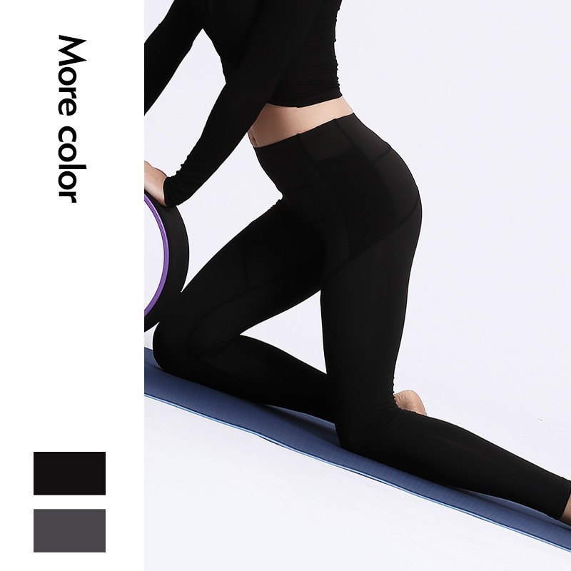 Free Leaper High Waist Pattern Yoga Pants for Women with Pockets Buttery Soft Workout Leggings Tummy Control