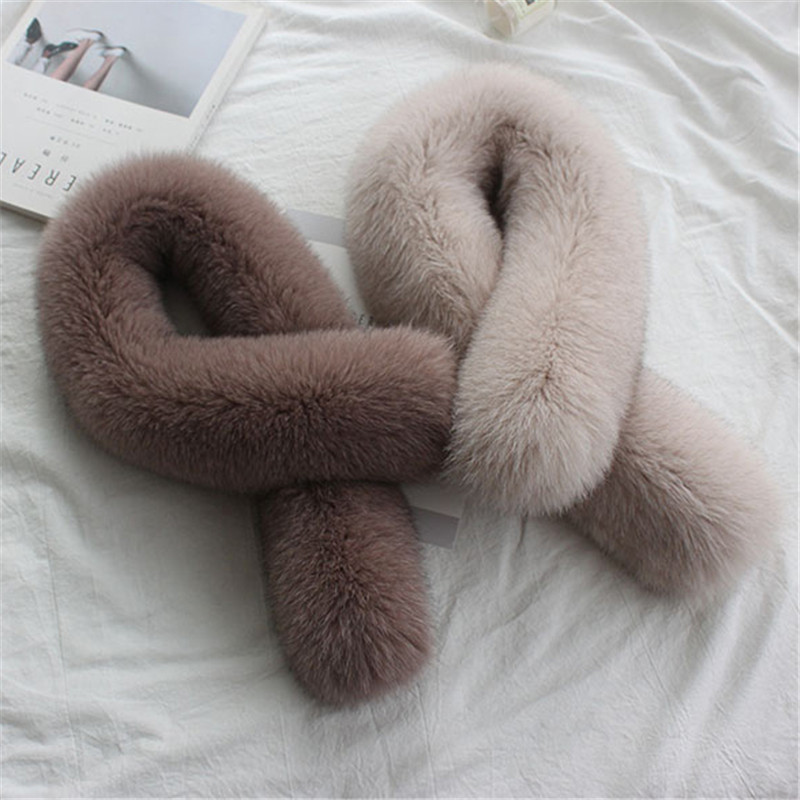 2019 Fashion New Women's Infinity Fox Fur Scarf Fur Scarf Winter Warm Street Fashion Fox Fur Ladies Scarf.