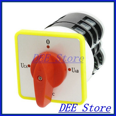 16A/500VAC 12 Screw Terminal 4 Positions Universal Changeover Switch свитшот print bar h u m a n z