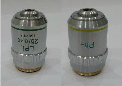 New LPL 25X / 0.40 PH+ Achromatic Plan Microscope Objective Lens new