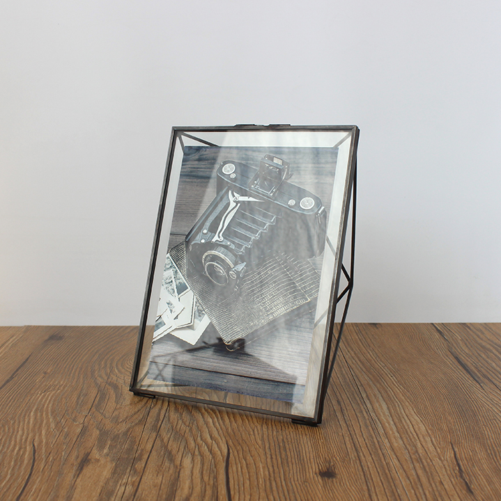 Aqumotic 3D Diamant Metallrahmen Doppelseitige Glas Voll Schwarz ...