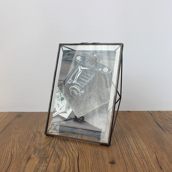 Aqumotic 3D Diamond Metal Frame Double Sided Glass Full Black Metal ...