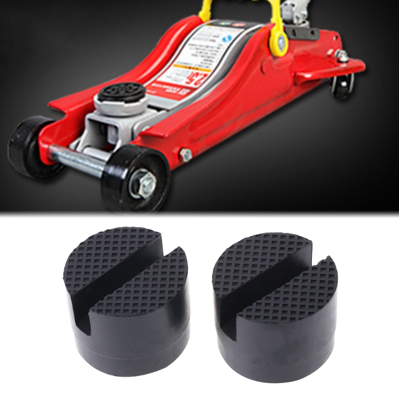 Image 5 - 2 Pcs Black 50x37mm Car Auto Slotted Frame Rail Hydraulic Floor Jack Rubber Pad
