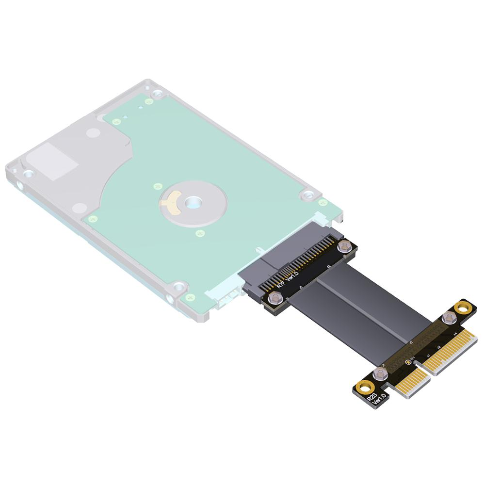 PCI-E 3.0 x4 To U.2 NVMe SSD SFF-8639 Extension Cable Riser Adapter High-speed