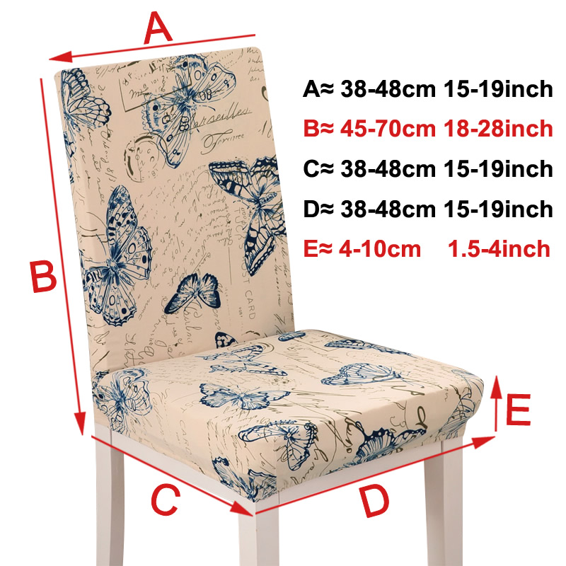 Printing grey flower chair cover Slipcovers Stretch Removable Dining seat Covers Hotel Banquet restaurant housse de chaise 15