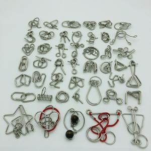Image 4 - New Set of 30/41/46PCS Metal Puzzle Mind Brain Teaser Magic Wire Rings Puzzles Game Toys for Children Adults