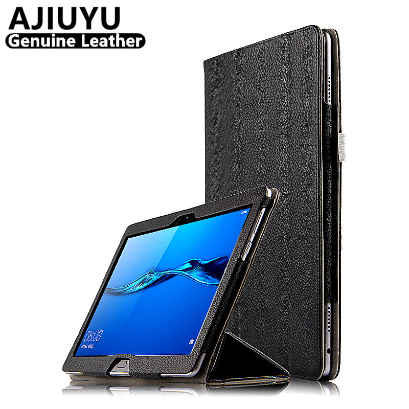 Genuine Leather Case For HUAWEI Mediapad M3 Lite 10 10.0 10.1 2017 Case Cowhide Leather BAH-W09 BAH-AL00 Tablet Cove Protective case for 10 1 huawei mediapad m3 lite 10 protective cover case for bah w09 bah al00 10 tablet free 3 gift