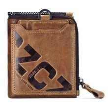 Genuine Leather Men Wallet Fashion Coin Purse Card Holder Small Wallets Clutch Bifold Purse