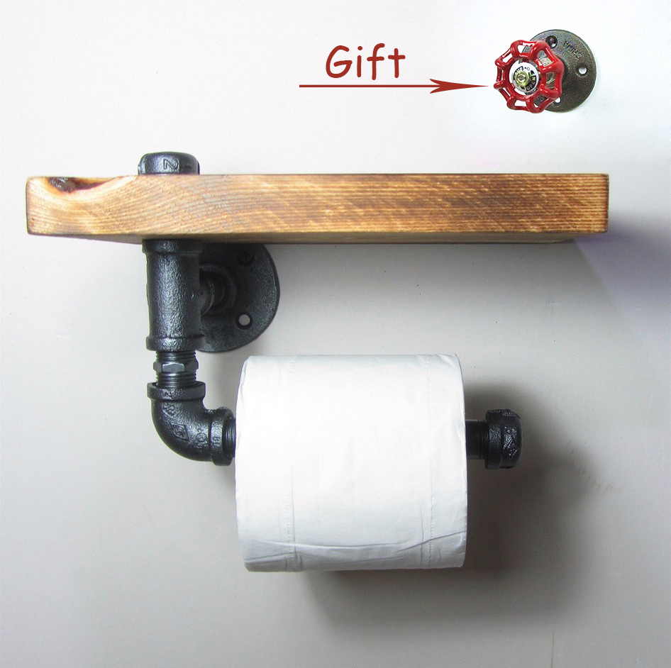 2pc industrial vintage wc bathroom kitchen toilet paper. Black Bedroom Furniture Sets. Home Design Ideas