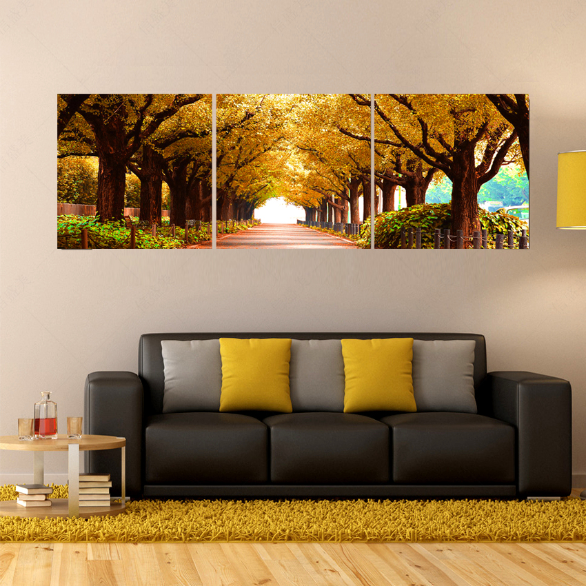 Canvas Picture Frame Picture More Detailed Picture About 3pcs Tree Pictures Home Decoration