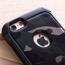 For iPhone 6s Case Hard Cover Heavy Duty Armor Shockproof Hybrid Rugged Rubber Silicone Rubber Army Camo Camouflage Phone Case