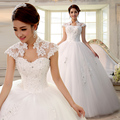 2017 double-shoulder slim slit neckline bag lace strap married bride Wedding Dresses