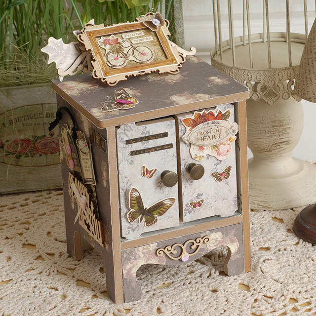 Us 7 12 5 Off Eno Greeting Diy Mini Drawer Storage Scrapbooking Jewelry Vintage Mni Cabinet Tool Mini Chest Of Drawers Wooden Home Decoration In