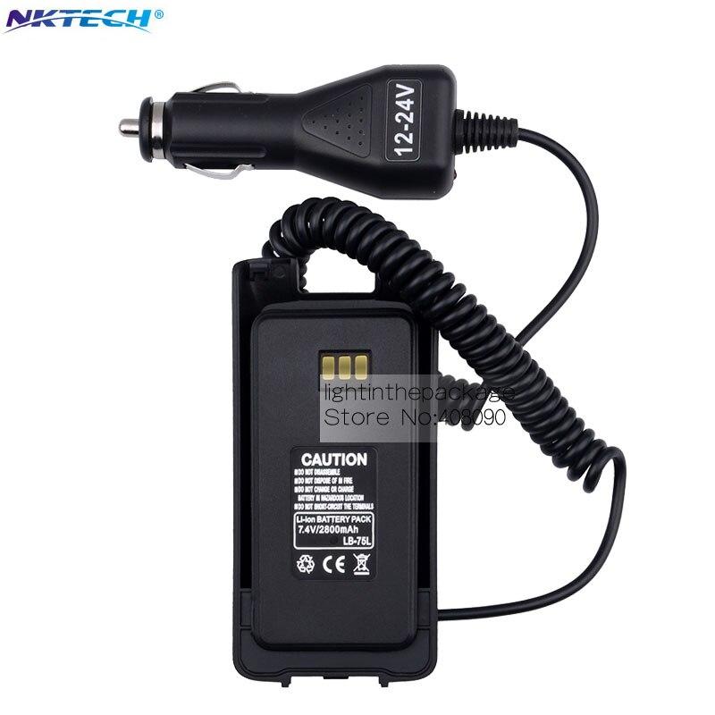 bilder für 12-24 v auto charger battery eliminator für retevis rt8 tyt md-390 funkgeräte walkie talkie hf transceiver schwarz