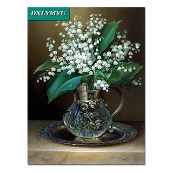 Diamond embroidery sale Lily of the valle Rhinestones Full square Drill Mosaic Kit 5D DIY Diamond Painting Cross Stitch pictures image
