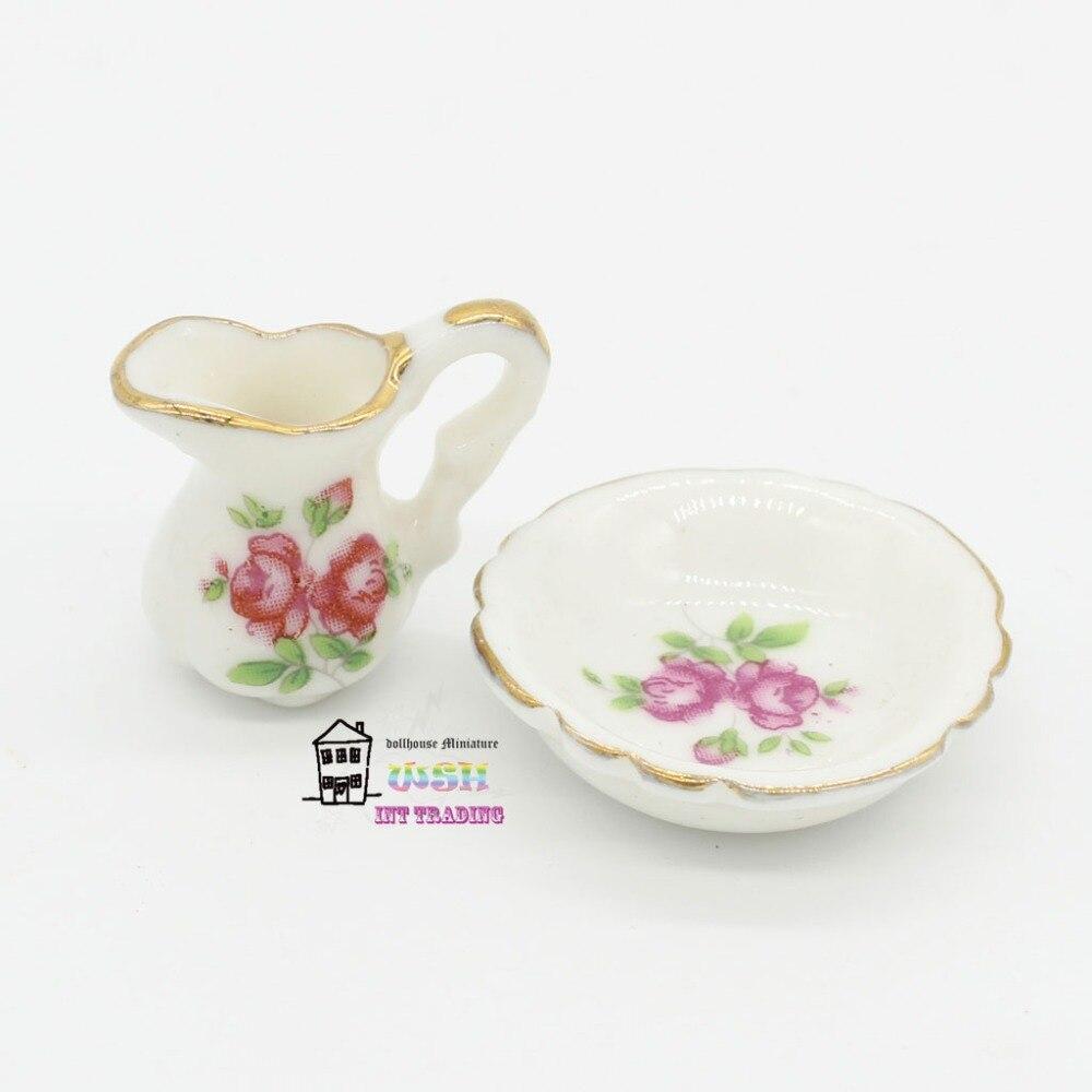 Salle De Bain Elle Maison ~ dollhouse miniature 1 12 salle de bains accessoires ensemble rose