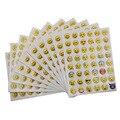 10 Hojas 48 Pegatinas Caliente Etiqueta Engomada Popular de 48 Diferentes Emoji Pegatinas Cara de La Sonrisa Para la Diversión Portátil Mensaje Twitter Gran TS0019
