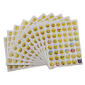 10 Sheets 48 Stickers Hot Popular Sticker 48 Different Emoji Smile Face Stickers For Notebook Fun Message Twitter Large TS0019