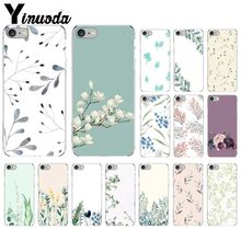 Yinuoda Watercolor plants with flowers Novelty Fundas Phone Case Cover for Apple iPhone 8 7 6 6S Plus X XS MAX 5 5S SE XR Cover yinuoda travel the world paper plane aircraft novelty fundas phone case cover for apple iphone 8 7 6 6s plus x xs max 5 5s se xr