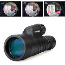 SVBONY 10-30×50 Zoom Monocular BAK4 Prism FMC Lens IPx7 Waterproof High Maganification Telescope SV45 Hunting Binoculars F9338A