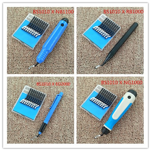 High quality trimming blade, deburring bayonet blade, BS1010 BK3010 edge cutter, BS1018 BS2010 new high quality new 1pc nb1100 burr handle deburring handle tool cutting tool with 10 blades bs1010 bs1012 bs1018 bk3010