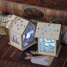 Drewniana latarenka świąteczna