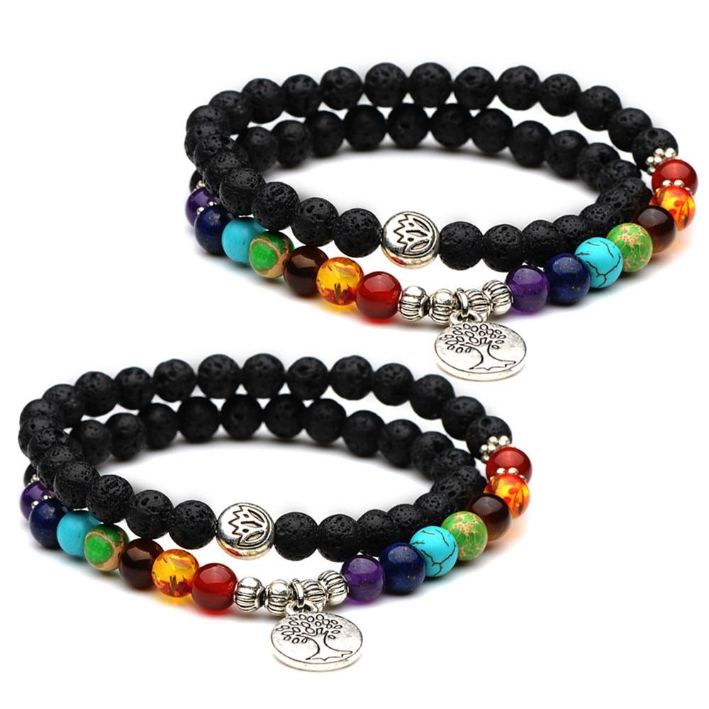 7 Chakra Bracelets Bangle...