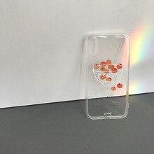 HKGK 2019 Fashion Orange Transparent Case For iPhone 6 6S 7 8 Plus 7Plus 8Plus X XS MAX XR Soft  Cover
