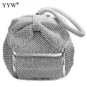 Image 3 - Fashion Pu Leather Clutch Bags Of Women Solid Casual Women Small Bag Silver Gold Rhinestone Party Evening Bag Bolsa Feminina