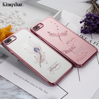 KINGXBAR Cover For IPhone 7 Plus Cover Shell Diamond PC Case For IPhone 7 Plus Case