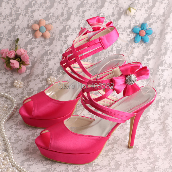 Wedopus Very High Heel Hot Pink Sandals Wedding Women Bridesmaid Sandals 19bfed5508b4