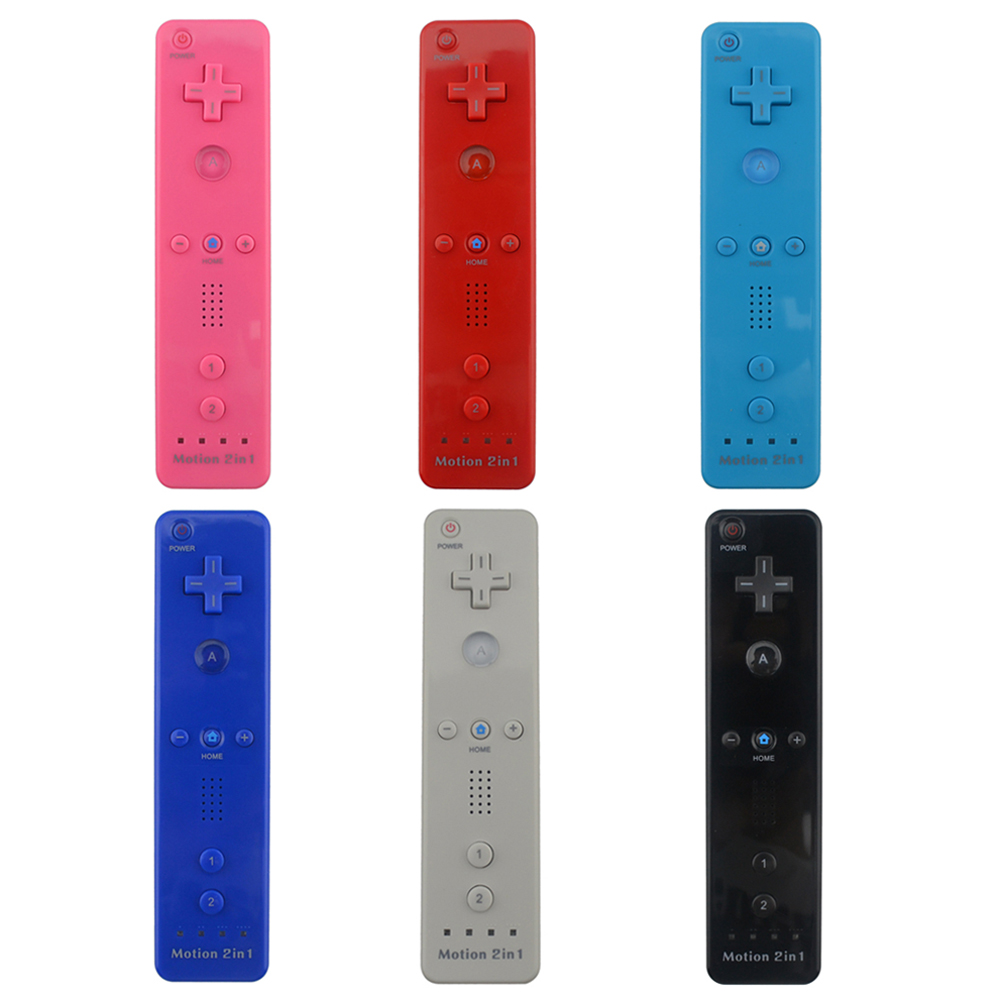 2 in 1 Built in Motion Plus Remote Controller Gamepad for Nintendo Wii Console Game