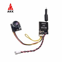AKK A5 5 8Ghz 40CH 25mW FPV Transmitter 600TVL CMOS Micro Camera Switchable Raceband For Drone