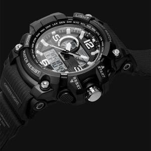Image 3 - TwentySeventeen Outdoor Double Display Digital Watch Original imported movement Multi function dial Dual time Waterproof For Men