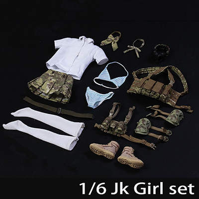 1/6 Scale JK GIRL SET Sister Suit Clothes For 12 Action Figure Toys Accessories