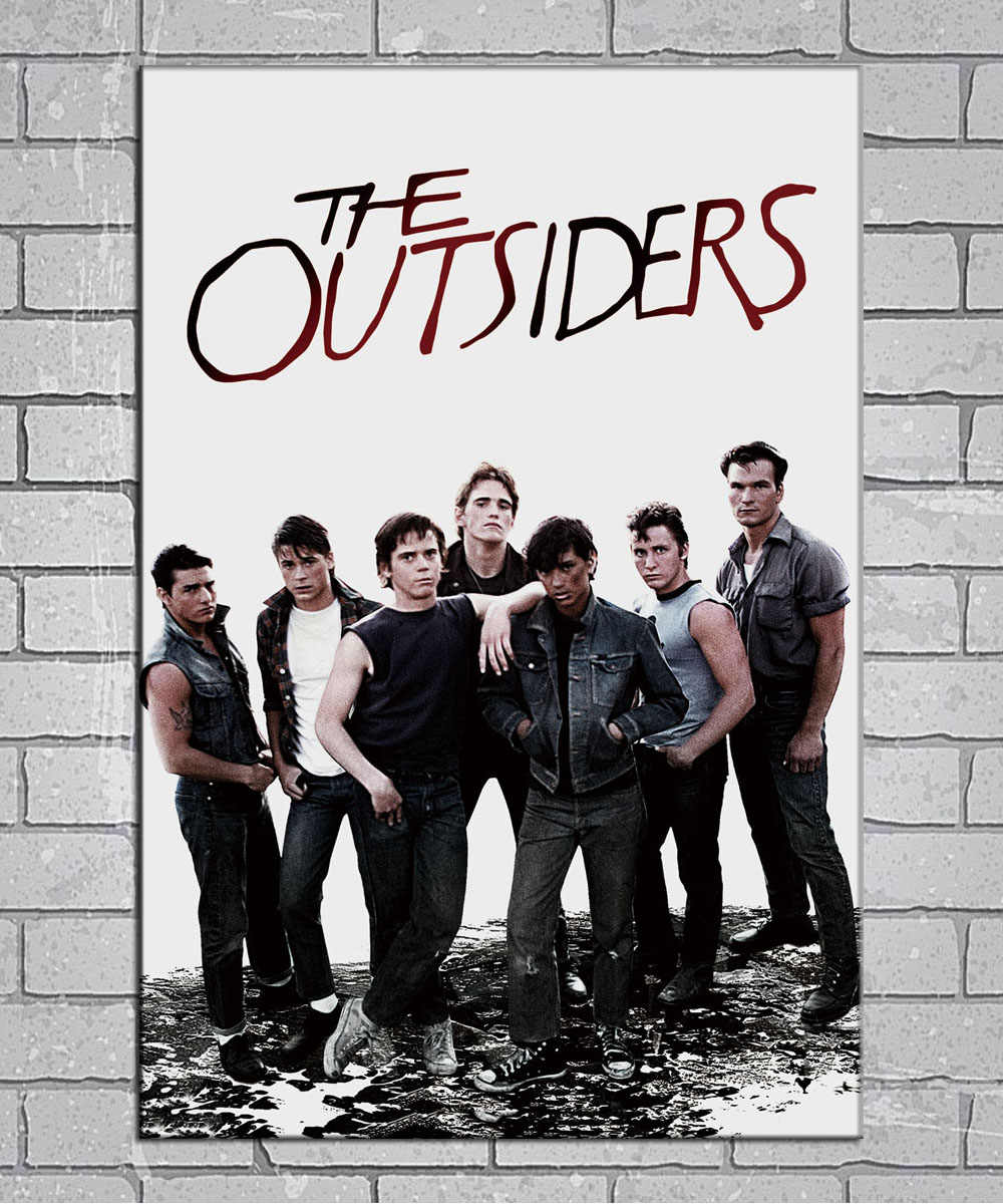 Rock Music Cover The Outsiders Rock Music Band Cover Light Canvas Custom Poster 24x36 27x40 Inch Home Decor N002