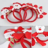 12pcs/lot Multi Christmas Design Hair Wear Santa Bear Snowman Style LED Lightting Hairwear Celebration Decorative Favors HX441