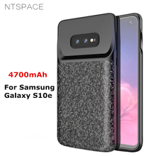 NTSPACE 4700mAh Silicone Shockproof Power Bank Cover for Samsung Galaxy S10e Case Charging External Battery