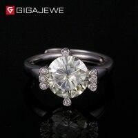 GIGAJEWE зеленый Муассанит кольца палец класса кольцо Винтаж Cz Обручение кольца