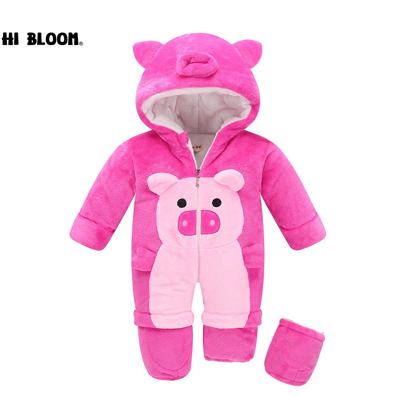 Baby Gift 100% Cotton Newborn Baby Girls Boys Winter Rompers Baby Romper Body Suit Cartoon Long Sleeve Clothes roupas de bebe