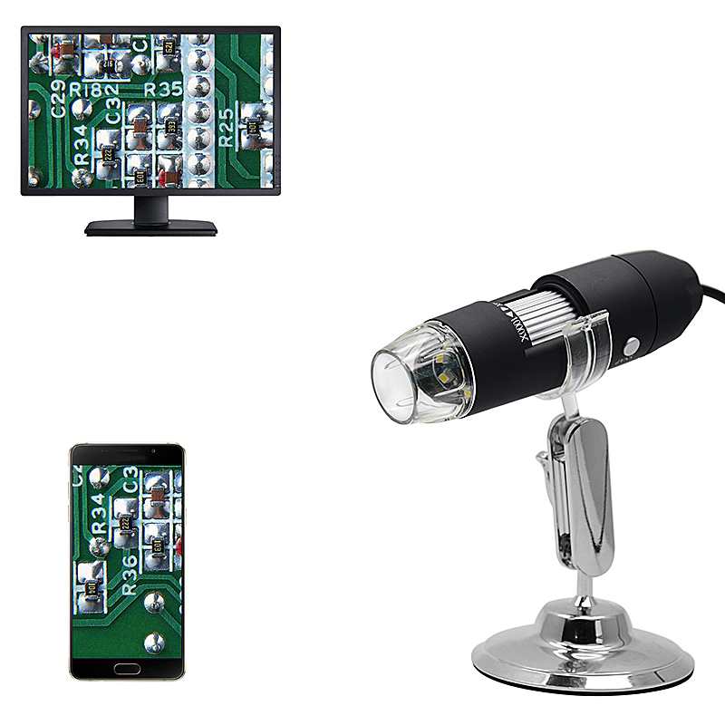 Dropship Mega Pixels 500X <font><b>1000X</b></font> 1600X 8LEDs <font><b>Digital</b></font> <font><b>USB</b></font> <font><b>Microscope</b></font> Magnifier Electronic Stereo <font><b>USB</b></font> Endoscope Camera for Gift image