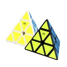 QiYi Pyraminx Cubo Magico Black And White Original QiMing A Pyramid Plastic Puzzle Cube Kids Toys