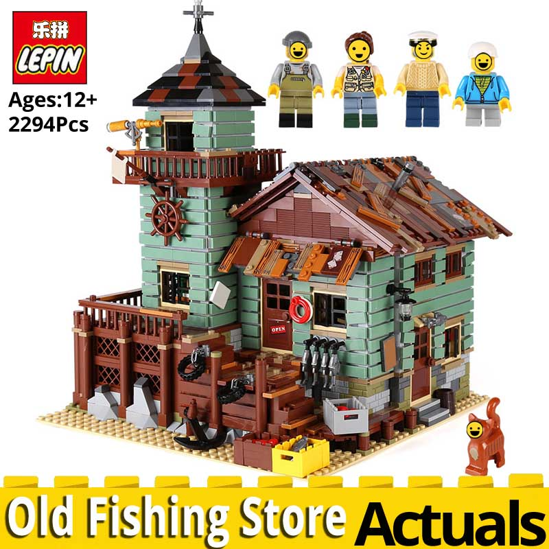 LEPIN IDEAS 16050 The Old Fishing Store Model set compatible legoings 21310 Building Blocks Bricks Educational Toys for children lepin 21012 ideas the beatles yellow submarine drag racer car building blocks bricks toys for children christmas gift legoings