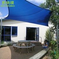 6,1x4,8 м/шт Индивидуальные Прямоугольник Защита от солнца тенты парус комбинации 95% УФ Защита ПНД Чистая для жилых двор