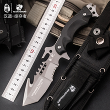 HX OUTDOORS Titanium Coated 440C Blade Fixed Knife G10 Handle Survival Hunting Tools Utility Tactical Defense Knives