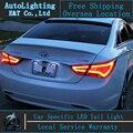 Auto Iluminación de la Lámpara De Cola de Hyundai Sonata led luces traseras 2011-2014 sonata8 led drl posterior del tronco cubierta de la lámpara señal + freno + reversa