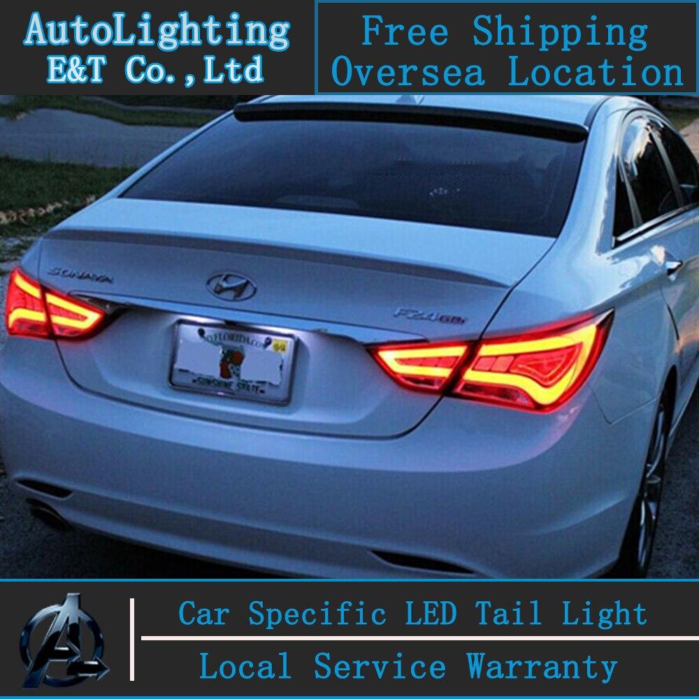 Auto Lighting Tail Lamp for Hyundai Sonata led tail lights 2011-2014 sonata8 led drl rear trunk lamp cover signal+brake+reverse