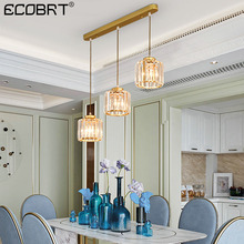 Modern crystal chandelier Nordic black / golden luxury ceiling restaurant bar desk study
